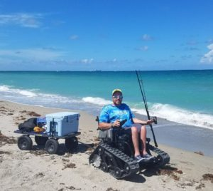 track chairs for veterans - visit the beach
