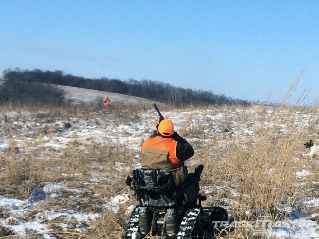 wheelchair with tracks for hunting - pheasant hunting