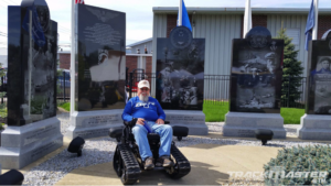 track chairs for veterans - memorial
