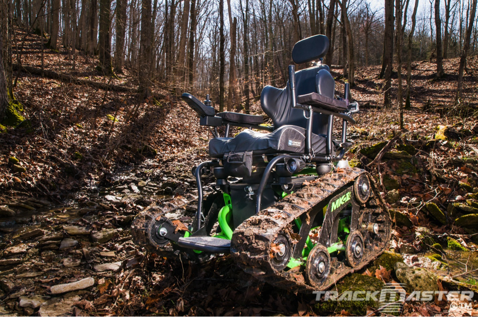 hunting wheelchair in the mountains