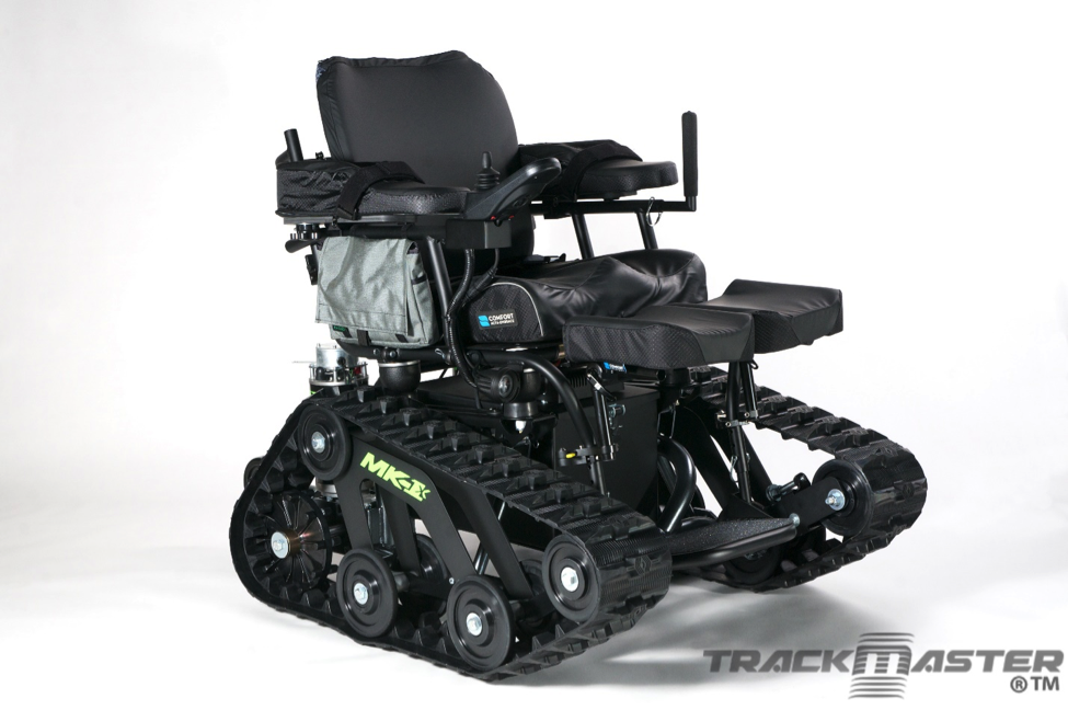 TrackMaster Custom MK-1X with Swing Away Amputee Support that can be modified for individualizing support.
