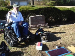 track chairs for vets - graveside respect