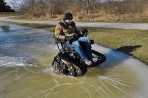 track chairs for vets - on ice
