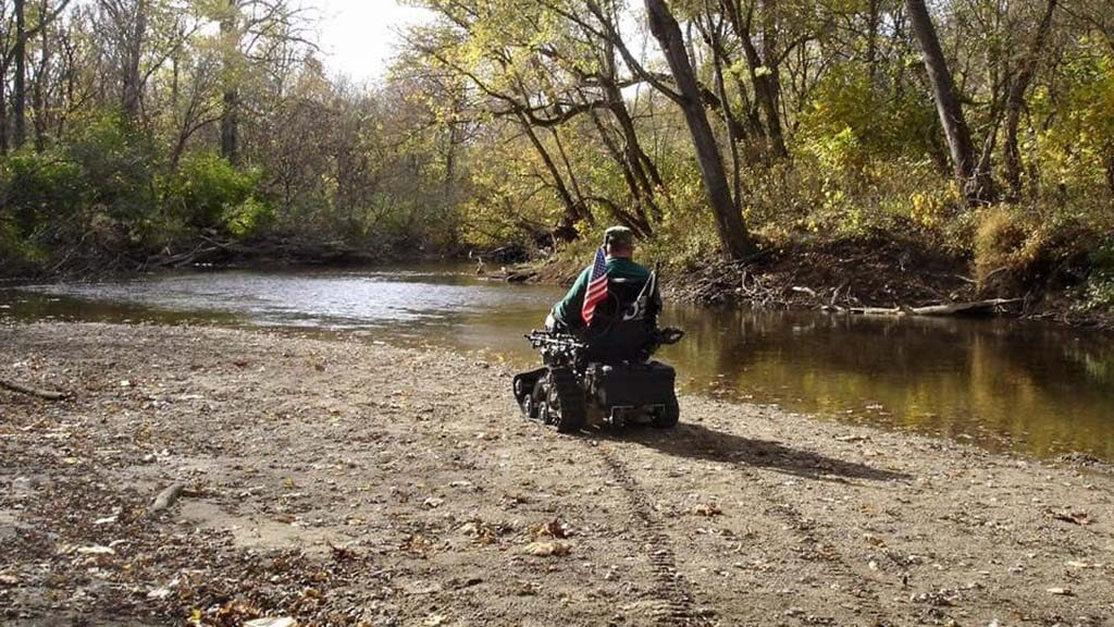 Tracked Wheelchair used as Hunting Wheelchair