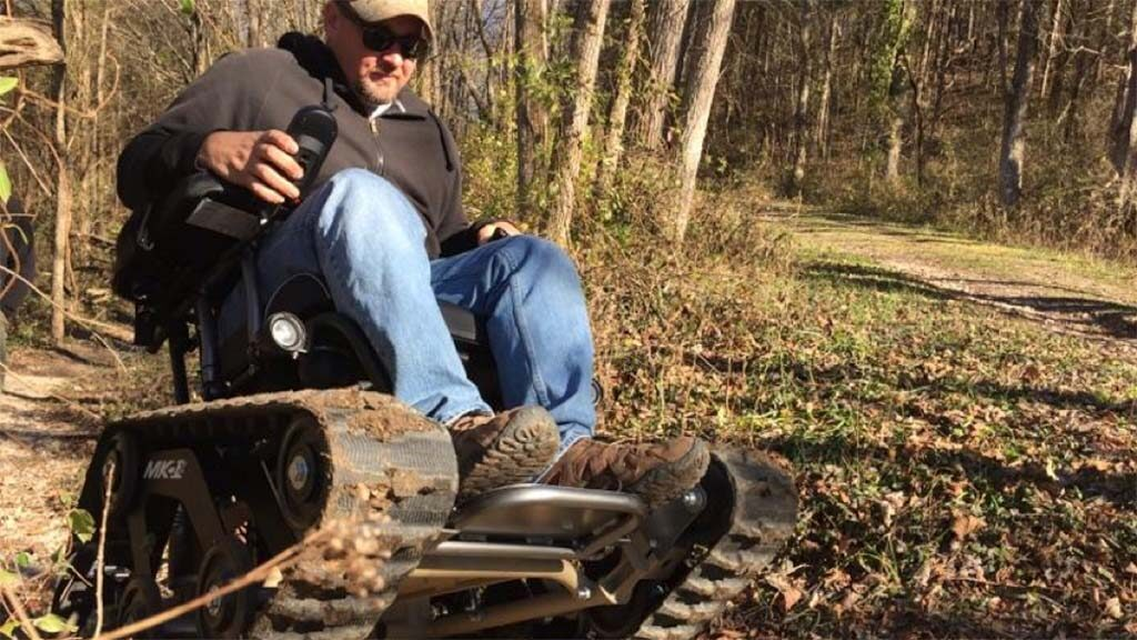 Custom TrackMaster track chair for hunting