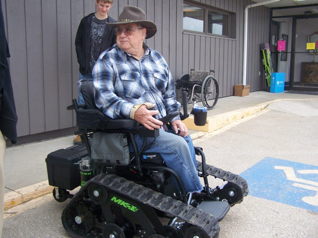 Tracked Wheelchair with TrackMasteCustoms to keep you active